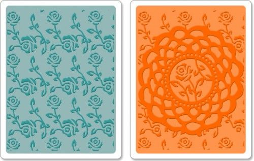 Sizzix - Textured Impressions Embossing Folders Doily & Roses Set. Thanks Patsy!
