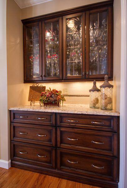 Astounding Built In Kitchen Hutch With Glass Door Upper Cabinets Interior Design Ideas Skatsoteloinfo