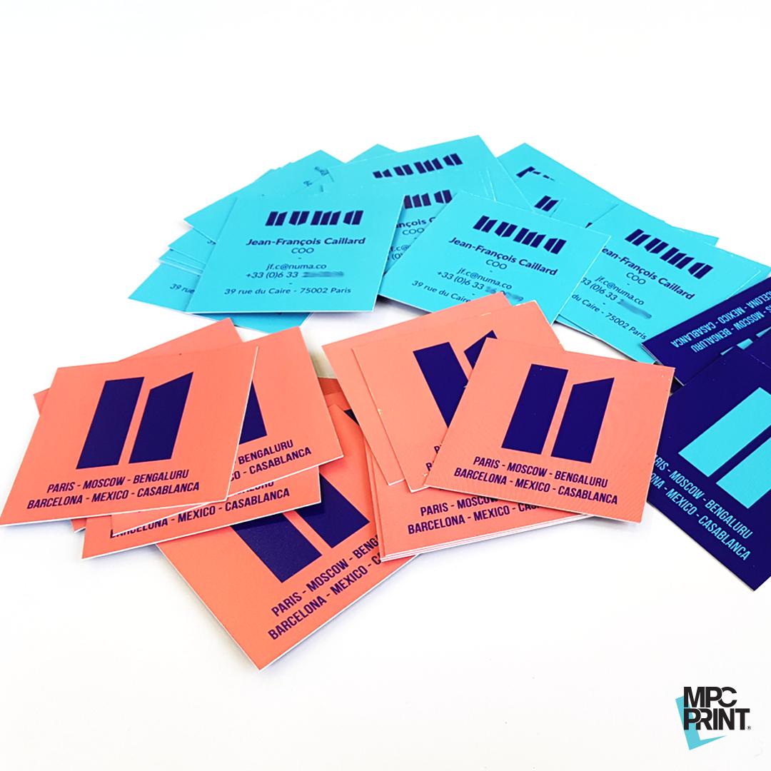 Impression Des Cartes De Visite NUMA Format Carre