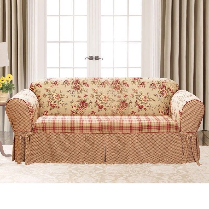 Sure Fit Lexington Cushion Sofa Slipcover 3 Seater Full Length