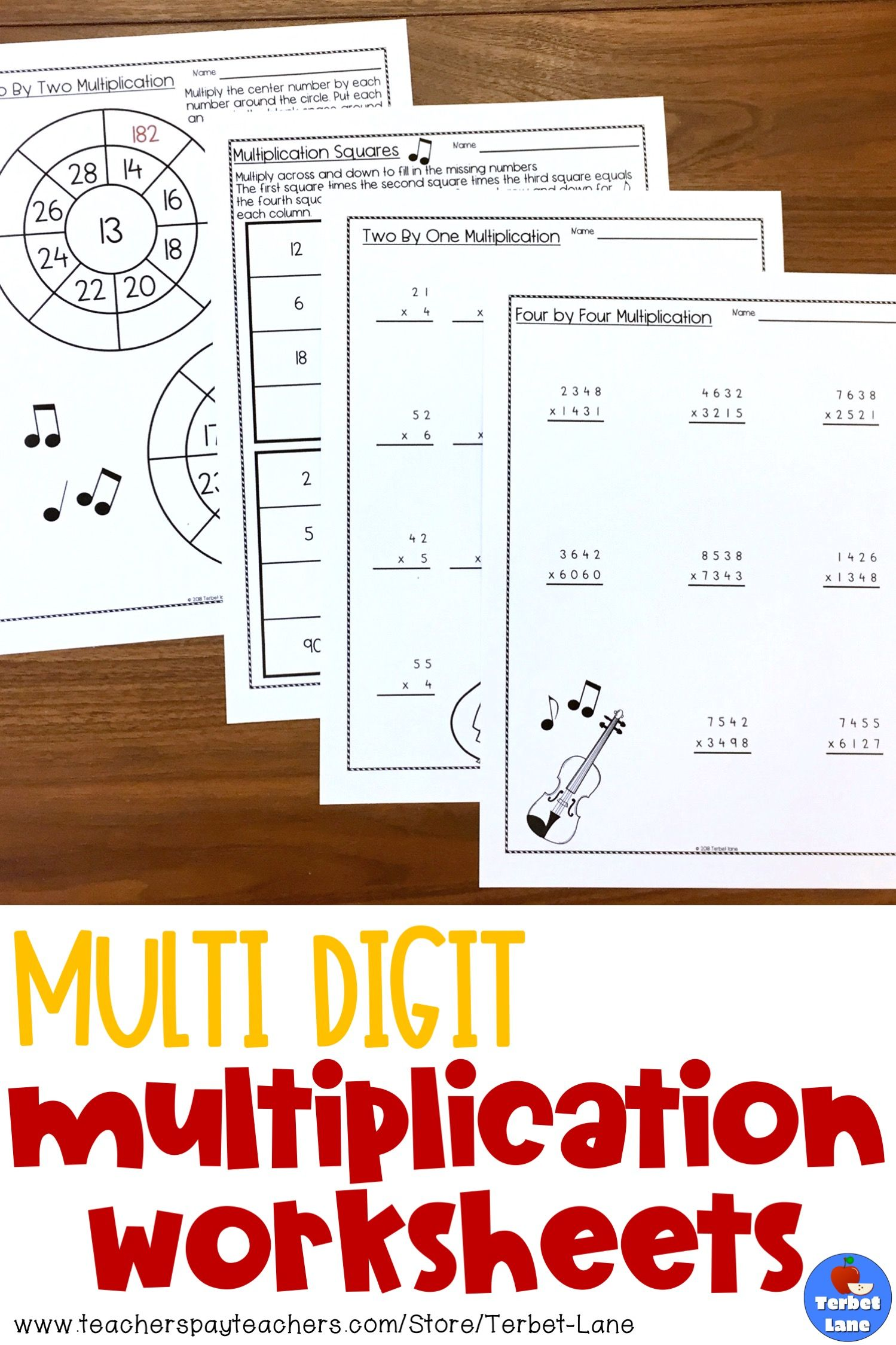 Multi Digit Multiplication Worksheet