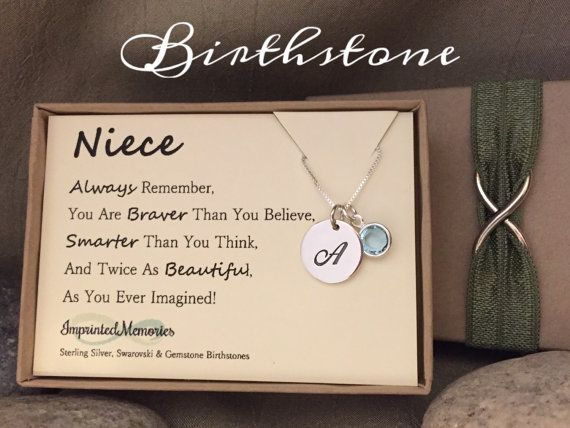 Niece Gift Birthstone For Jewelry By ImprintedMemories