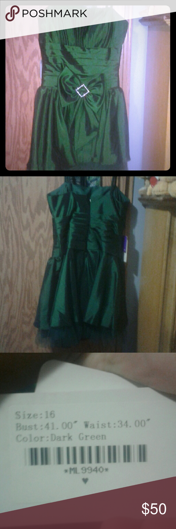 Emerald Green Dress Never Worn Size 16 Dress It Was To