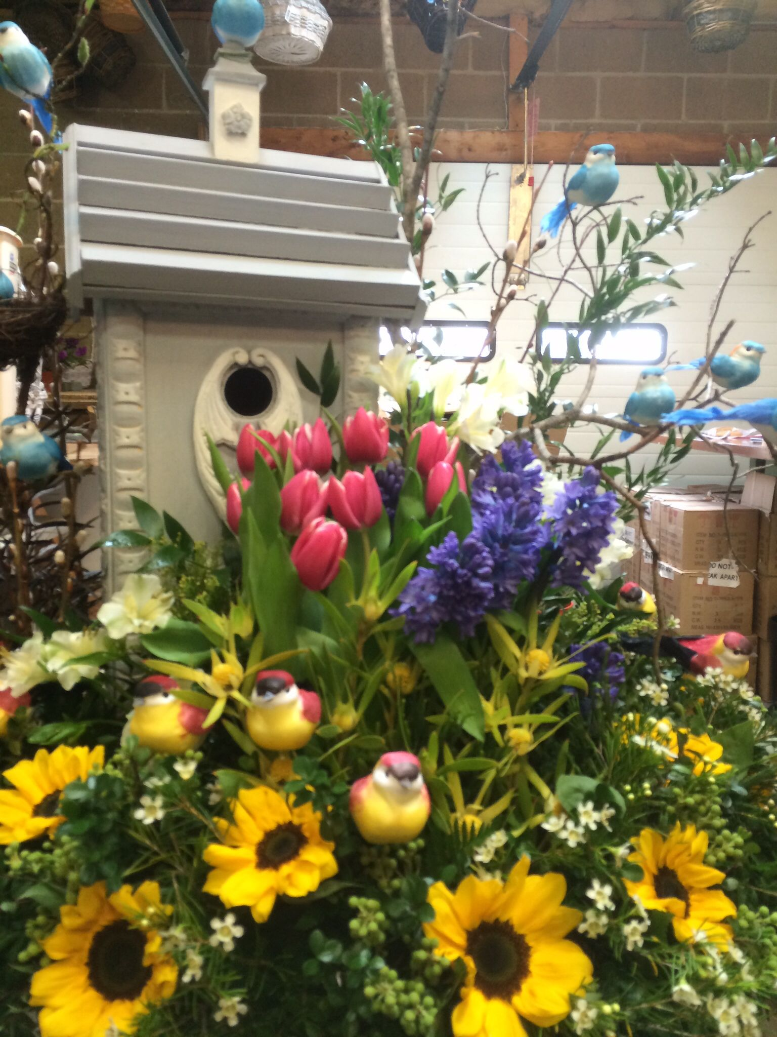 Themed Floral To Signify Grandchildrenlittle Birdies For The