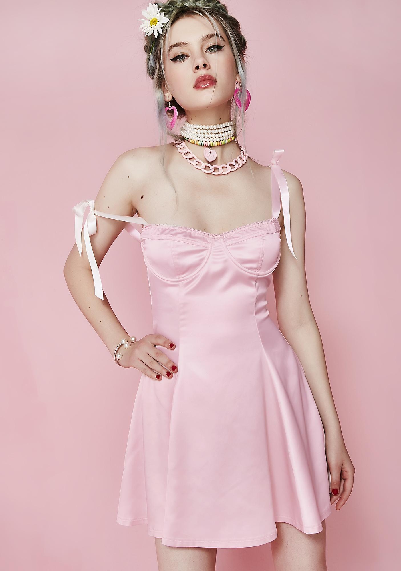 0a4abe6e2816a0 Flirt With Desire Satin Dress