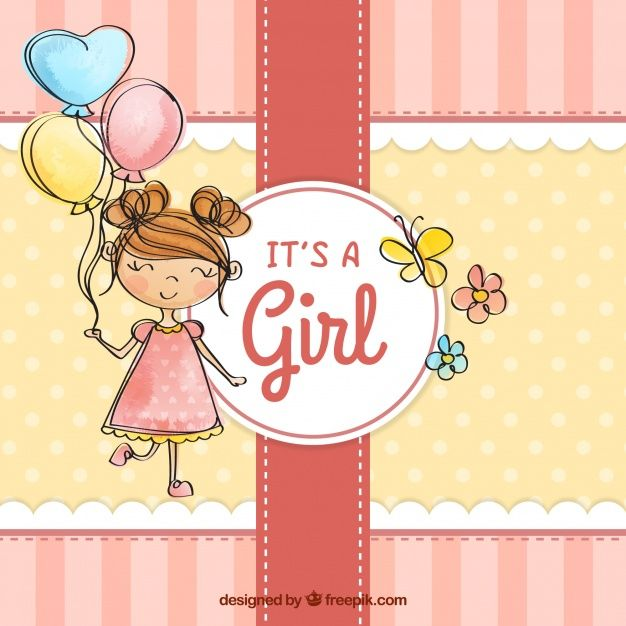 Download Cute Baby Girl Background In Hand Drawn Style For Free Cute Girl Wallpaper Girl Background How To Draw Hands