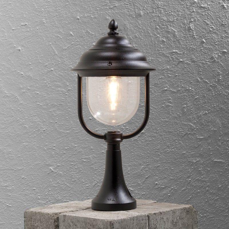 Konstsmide parma outdoor pedestal light black outside lighting konstsmide parma outdoor pedestal light black from lighting direct mozeypictures Images
