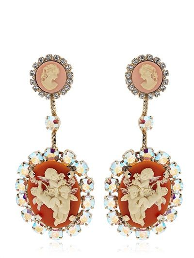 HALABY - LVR LIMITED EDITION CAMEO PIN EARRINGS