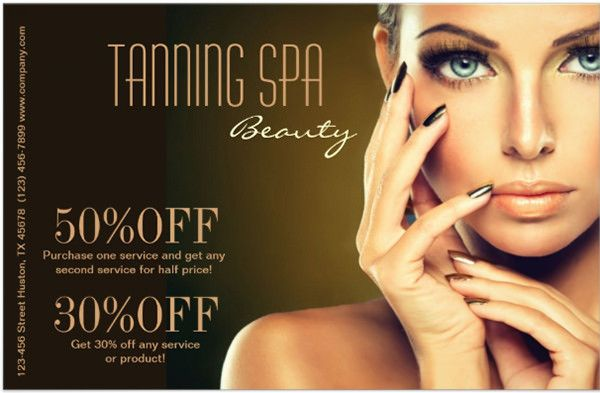Modern Chic Beauty SPA Tanning Salon Custom Flyer 66+ Beauty - hair salon flyer template