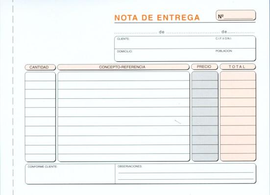 Modelos De Notas De Entrega Modelo Factura Plantilla De Notas Notas Ejemplos De Notas
