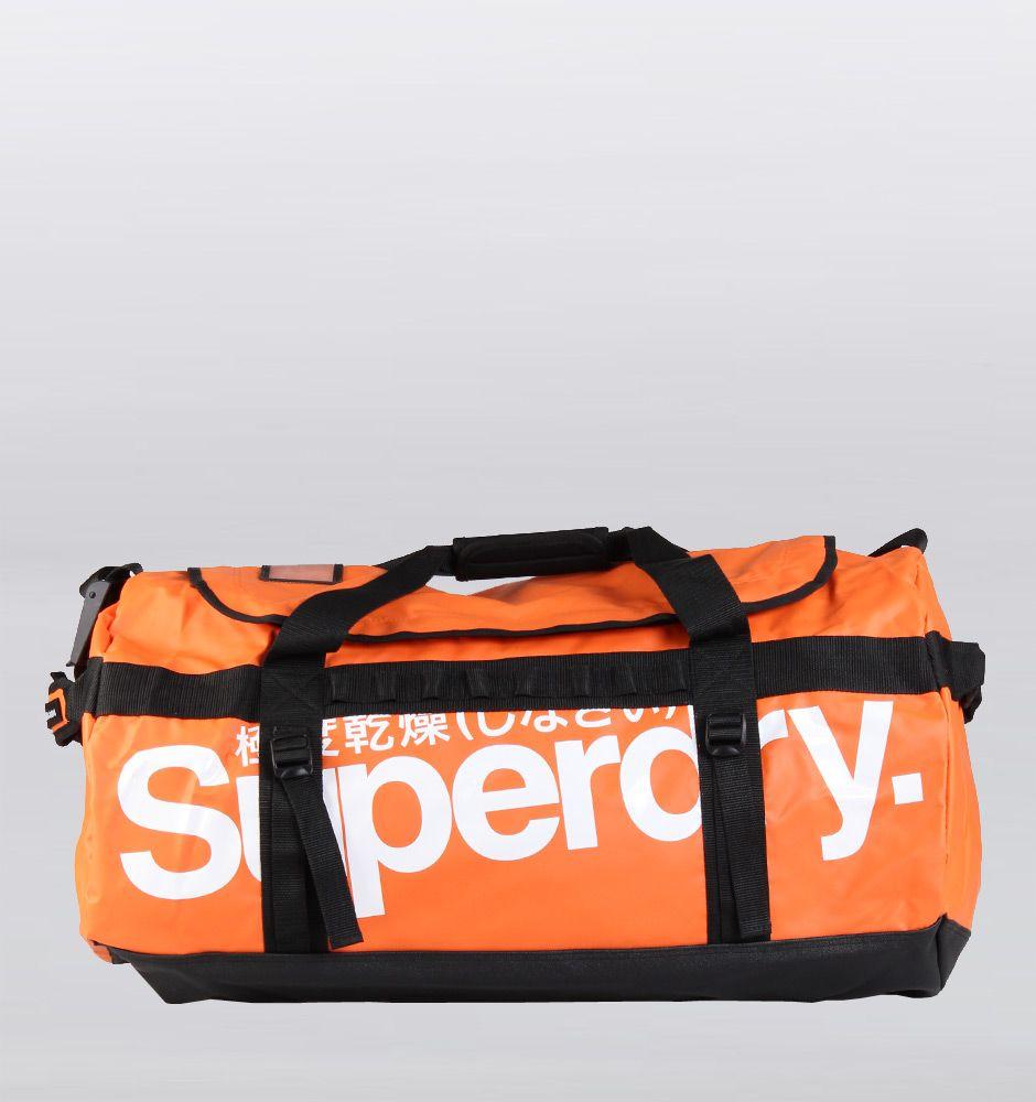 0b4bc252c4e52 Superdry Classic Tarpaulin Large Duffle Bag - Orange White