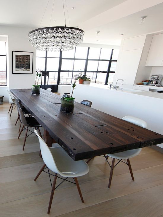 Love Love This 12 Person Dining Table Contemporary Kitchen