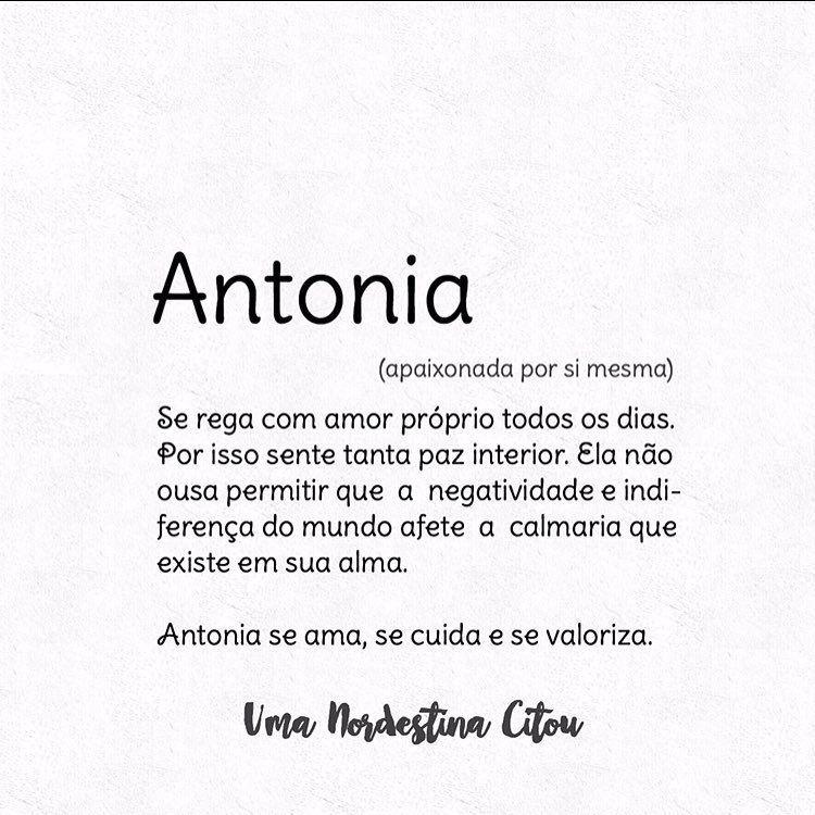 Conhece alguma Antonia? Marca aqui nos comentários ❤ (em Teresina ...