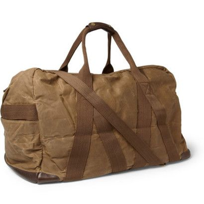 6be9122982d A great gift for dad, the Abingdon Waxed-Cotton and Canvas Holdall, a  classic duffel bag by J.Crew.