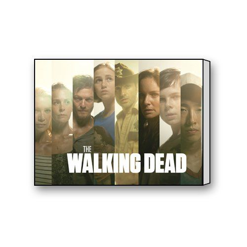 The Walking Dead Custom ART Wand 40,6 x 30,5 cm Leinwand Prints