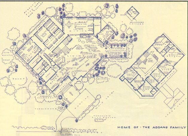 Addams Family House Floor Plan Addams Family House Family House Plans Addams Family