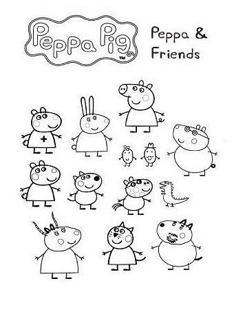 Capa Lembrancinha Caderno De Colorir Peppa Pig Coloring Pages Peppa Pig Colouring Peppa Pig Drawing