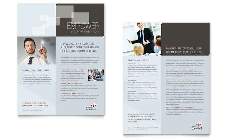 Computer Software Company Datasheet  Word  Publisher Template