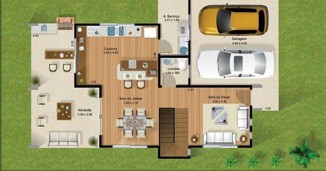 Plano de casa de 220 m2 planosteo pinterest - Planos de casas minimalistas ...