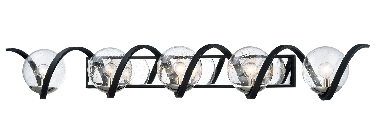 Photo of Maxim Curlicue 5-Light Bathroom Vanity Light in Black