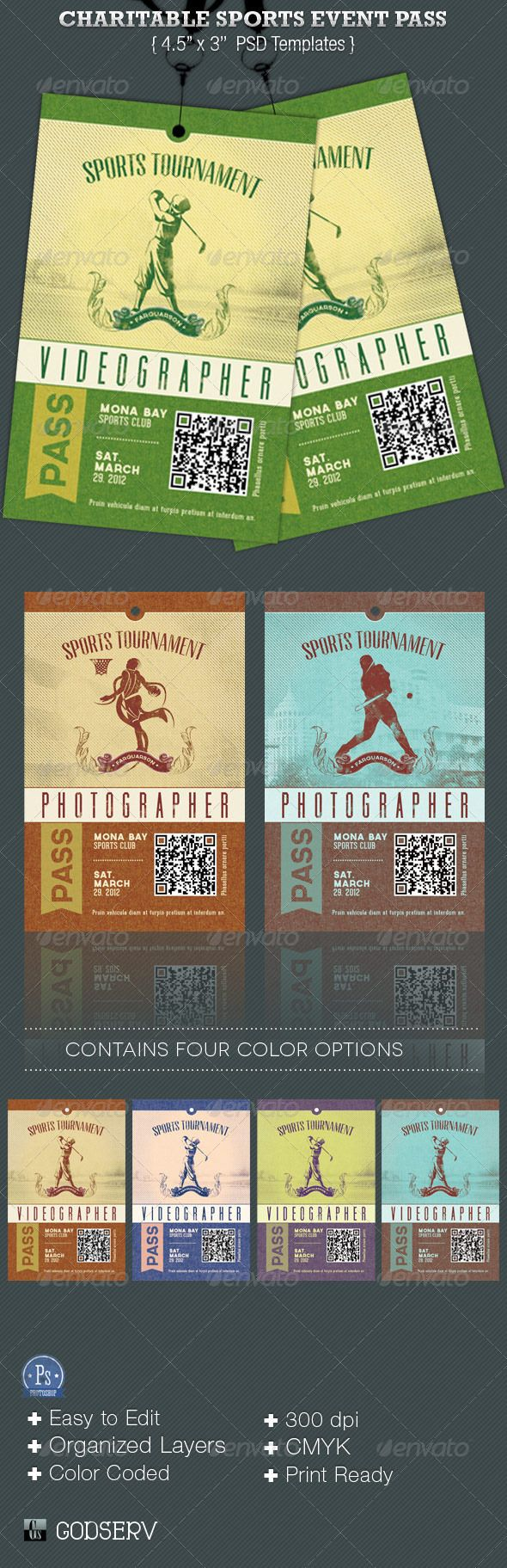 Charitable Sports Events Pass Templates are for sports