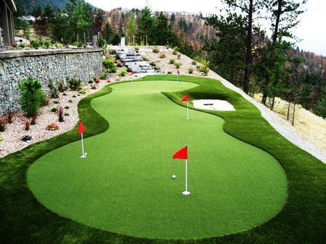Mini Golf In The Backyard Thanks To Synthetic Grass. Backyard Putting GreenGolf  PracticeGolf ...