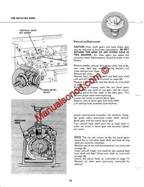 Singer 600-603 Service And Repair Manual. Singer service ...