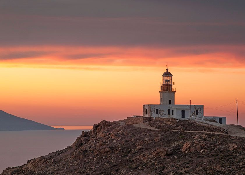 sunset at the lighthouse by petros asimomytis on 500px
