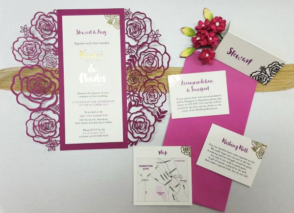 laser cut invitation sleeves by imagine if creative studios laser