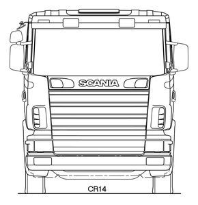 Scania r series blueprint cris pinterest 3d modeling scania r series blueprint malvernweather Images