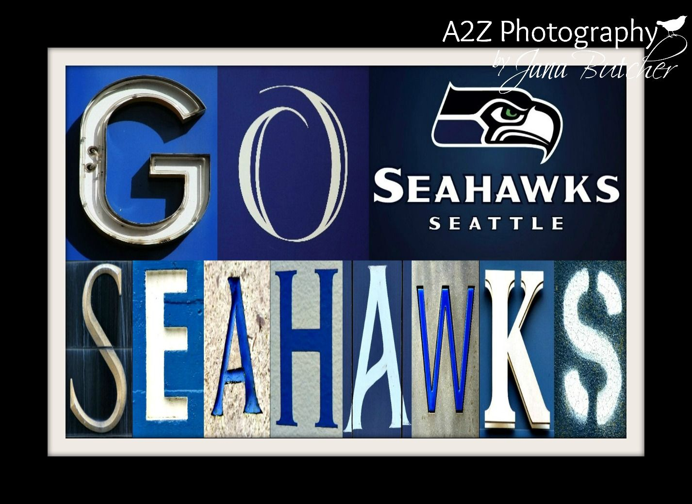 Super Bowl Champions Seattle Seahawks Football Letter Art