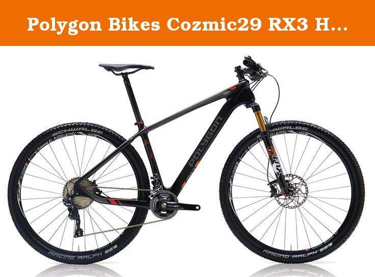 Polygon Bikes Cozmic29 Rx3 Hardtail Mountain Bicycles Black Red