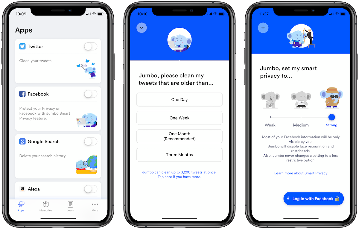 Jumbo app lets you gain control of your privacy on social