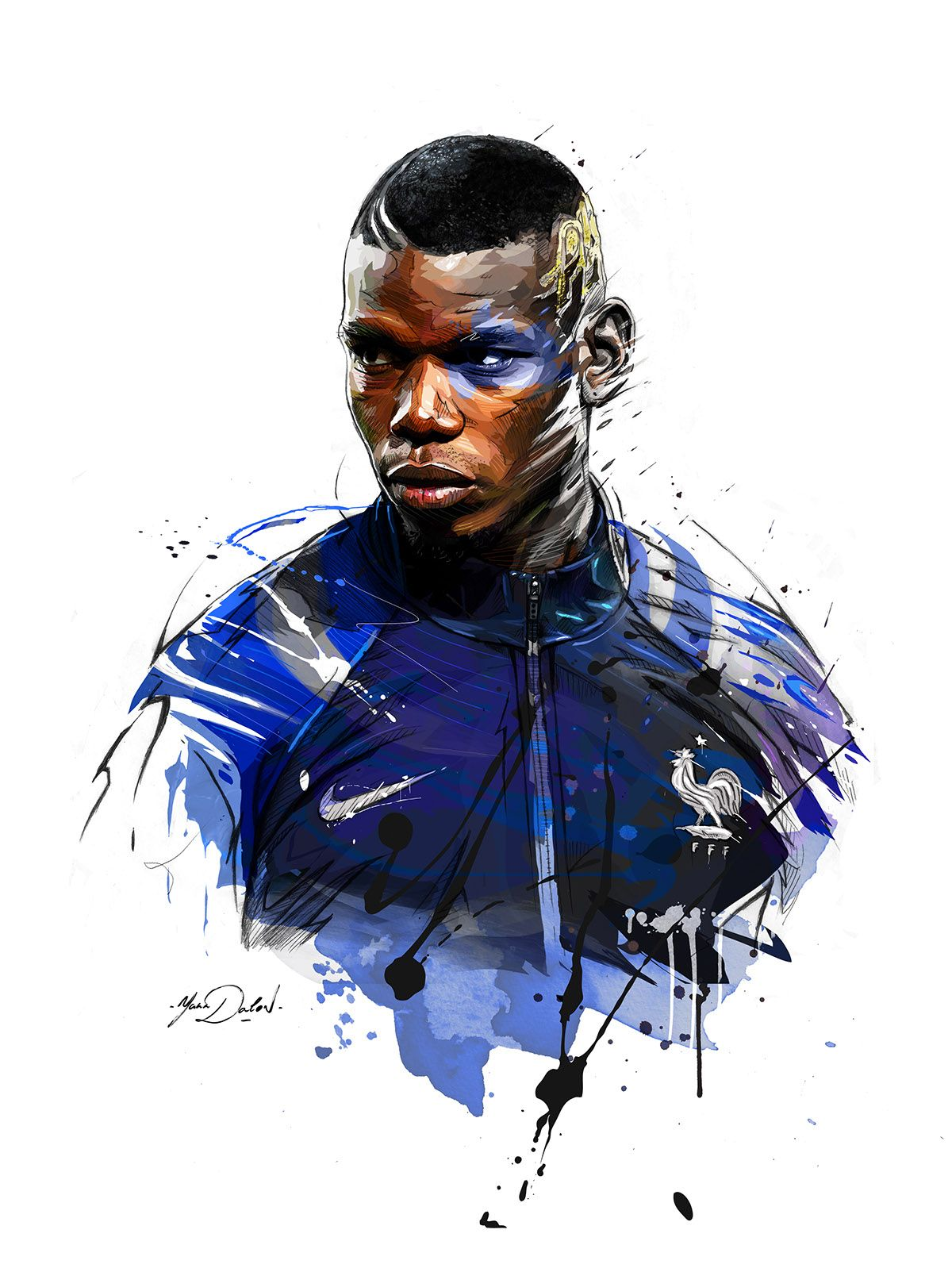 Espn Paul Pogba On Behance Paul Pogba Soccer Team Men S Soccer Teams