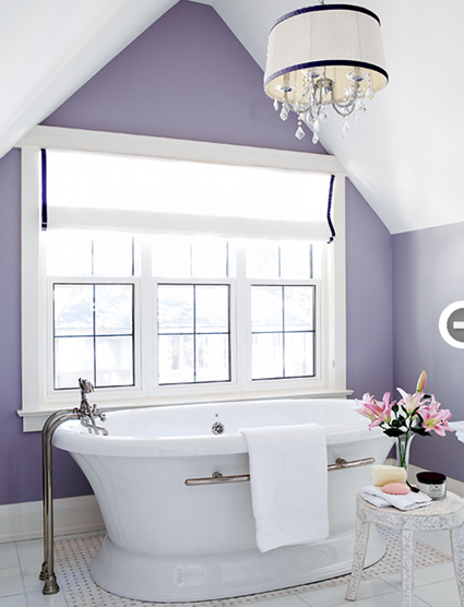 How to Decorate With Purple Without Looking Ridiculous   Purple bathrooms, Lavender bathroom, Trending bathroom colors