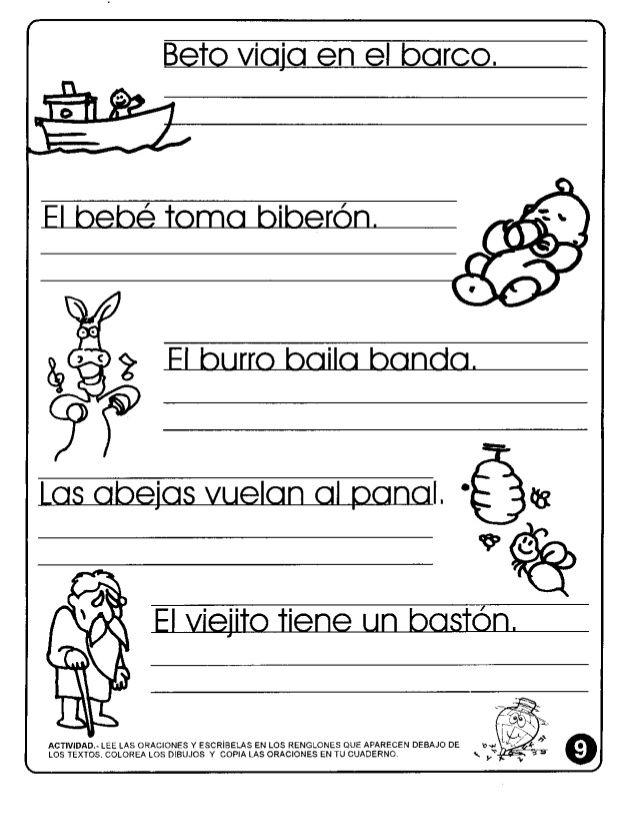 actividades lectoescritura 2do escribir spanish worksheets teacher resources speech. Black Bedroom Furniture Sets. Home Design Ideas