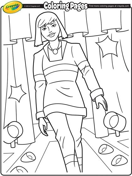 Runway Model Coloring Page Coloring Pages For Kids Flag