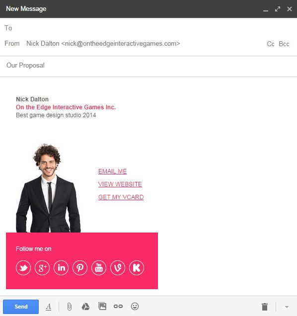 how to send html newsletter in gmail