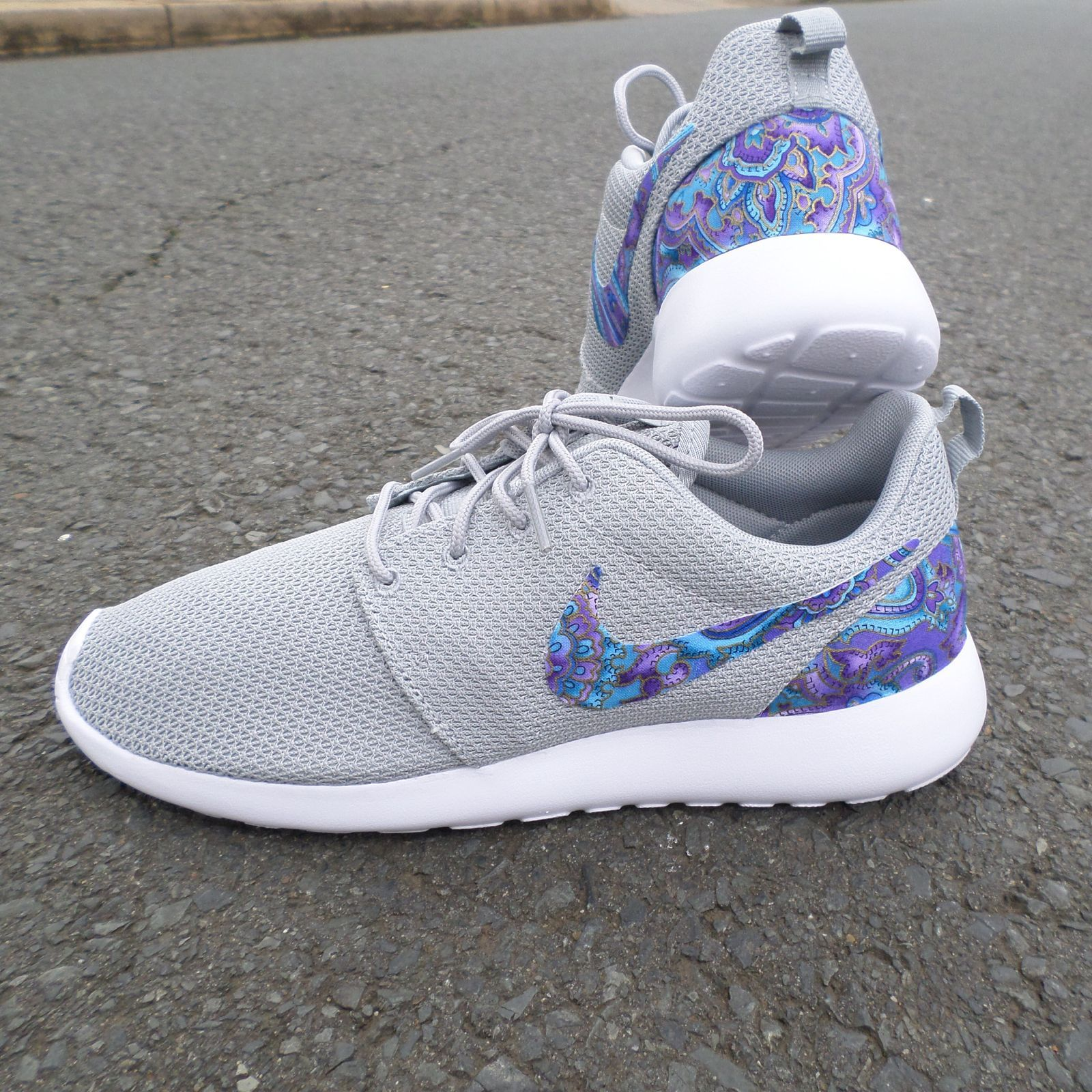 Custom Nike Roshe One Teal Purple Paisley / Customs x Cario ...