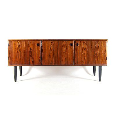 Retro Vintage Danish Design Rosewood Sideboard Cabinet 1960s Mid Century Modern