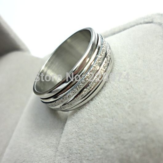 Non tramonterà mai del nastro glassato anello di rotazione di 2016 gioielli di moda per uomo donna acciaio inossidabile squilla il trasporto shippingLR052