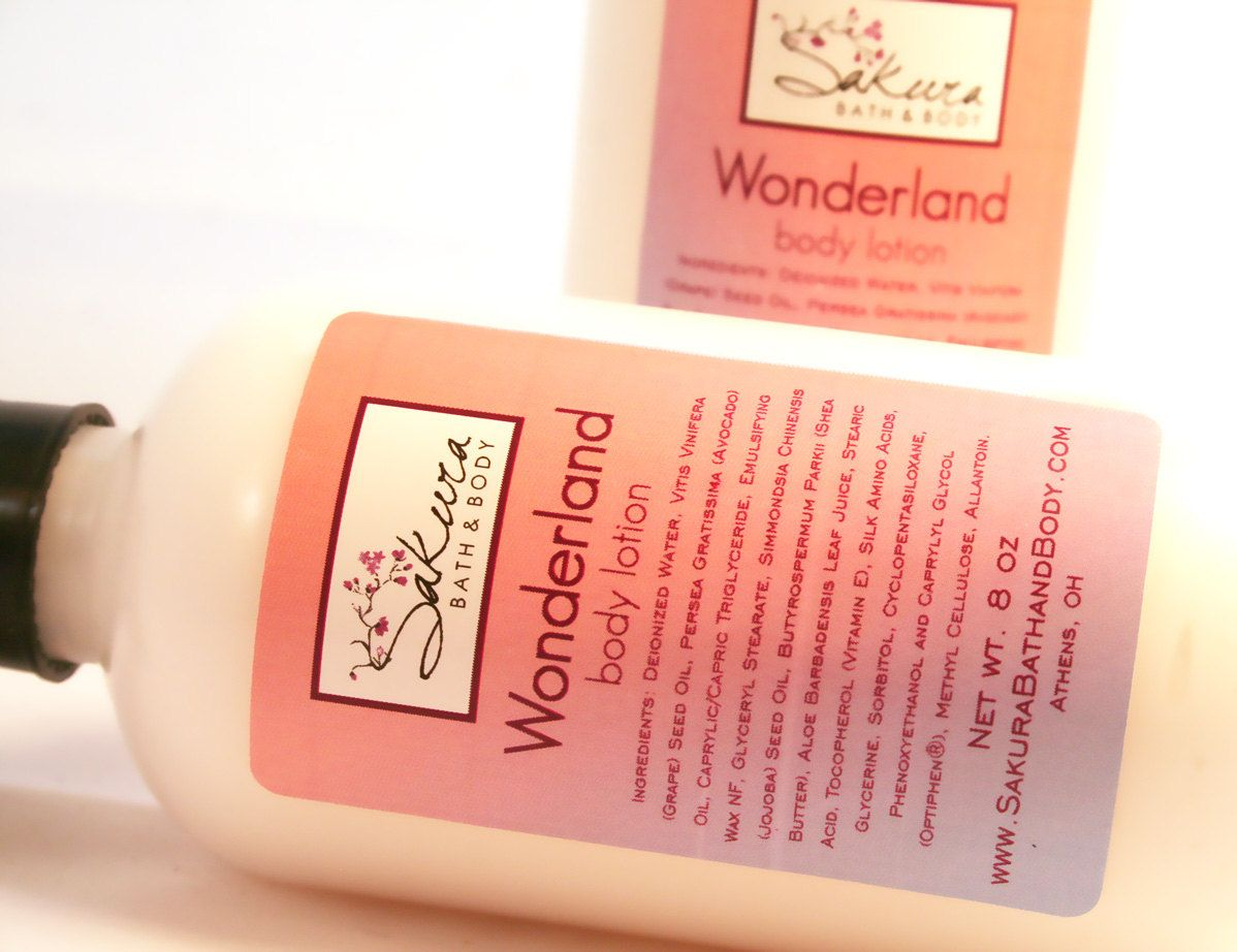 Wonderland Body Lotion Vegan Cream with Shea Butter, Avocado