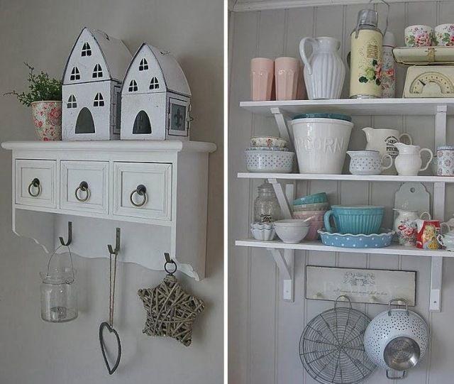 shabby chic deko küche offen regale garderobe | shabby ideas, Hause ideen