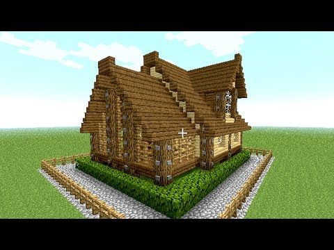 MINECRAFT House Tutorial Cool And Easy Wooden House In Minutes - Coole minecraft hauser tutorial