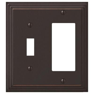 Amerelle Tiered Cast 1 Toggle And 1 Decora Switch Wall Plate Aged
