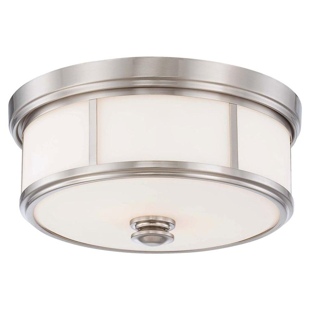 Minka Lavery Harbour Point 2 Light Brushed Nickel Flush Mount 4365 84 Flush Mount Ceiling Lights Minka Lavery Flush Mount Lighting