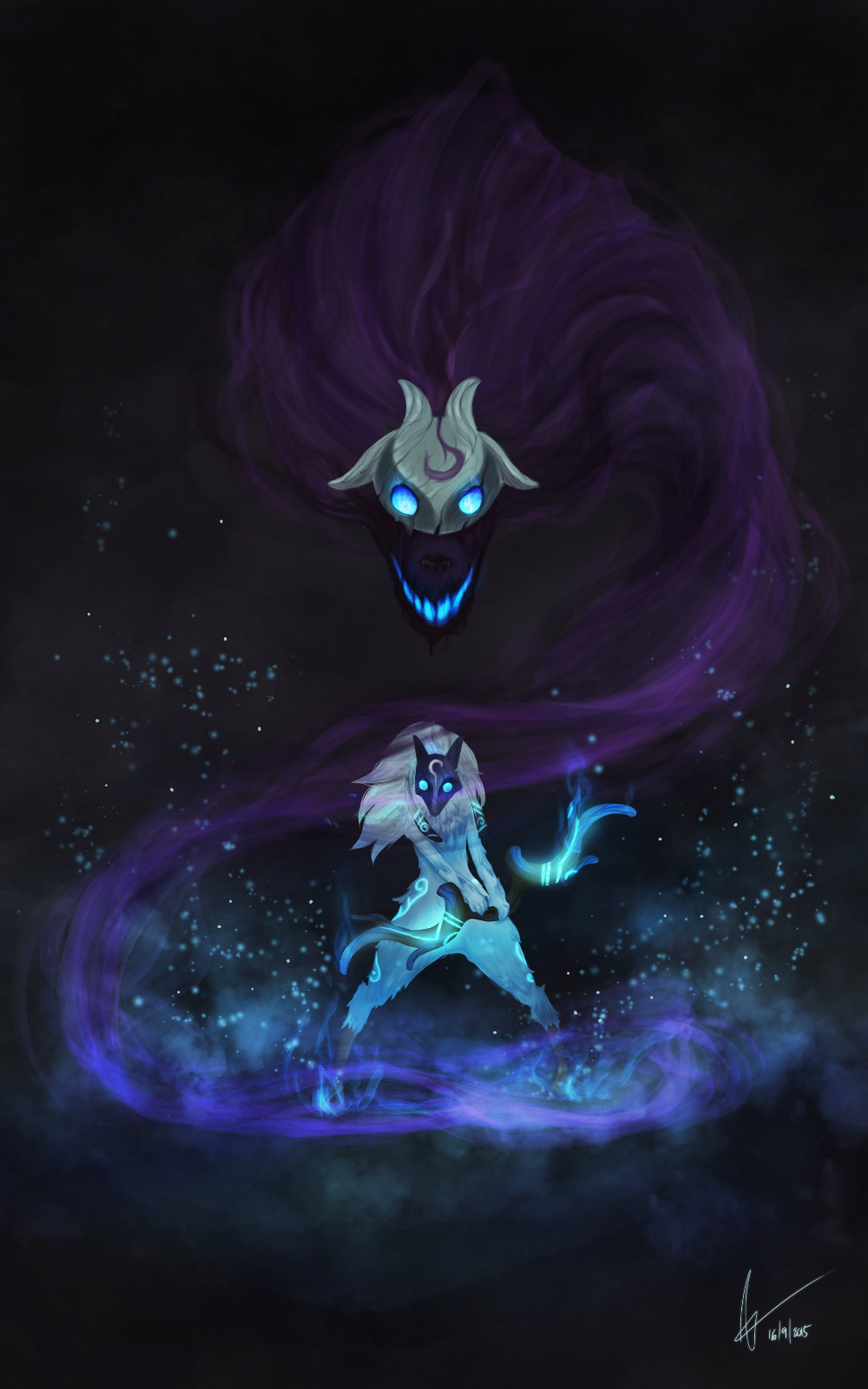 ArtStation Kindred League of Legends, Mireia Garcia