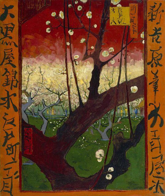 Vincent van Gogh, Japonaiserie Flowering Plum Tree (1887) van