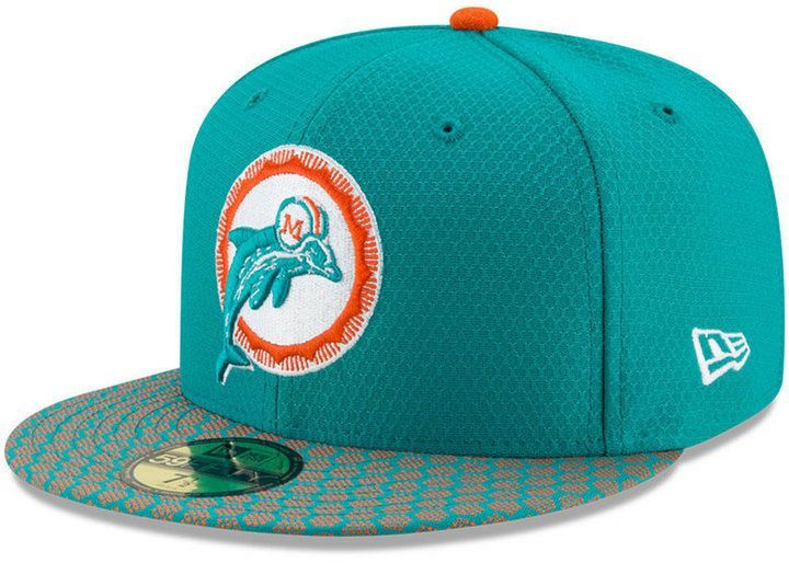 new style a5c04 6c997 New Era Boys  Miami Dolphins Sideline 59FIFTY Fitted Cap