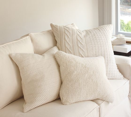 Faux Sheepskin Pillow Covers In 2019 White On White Ish